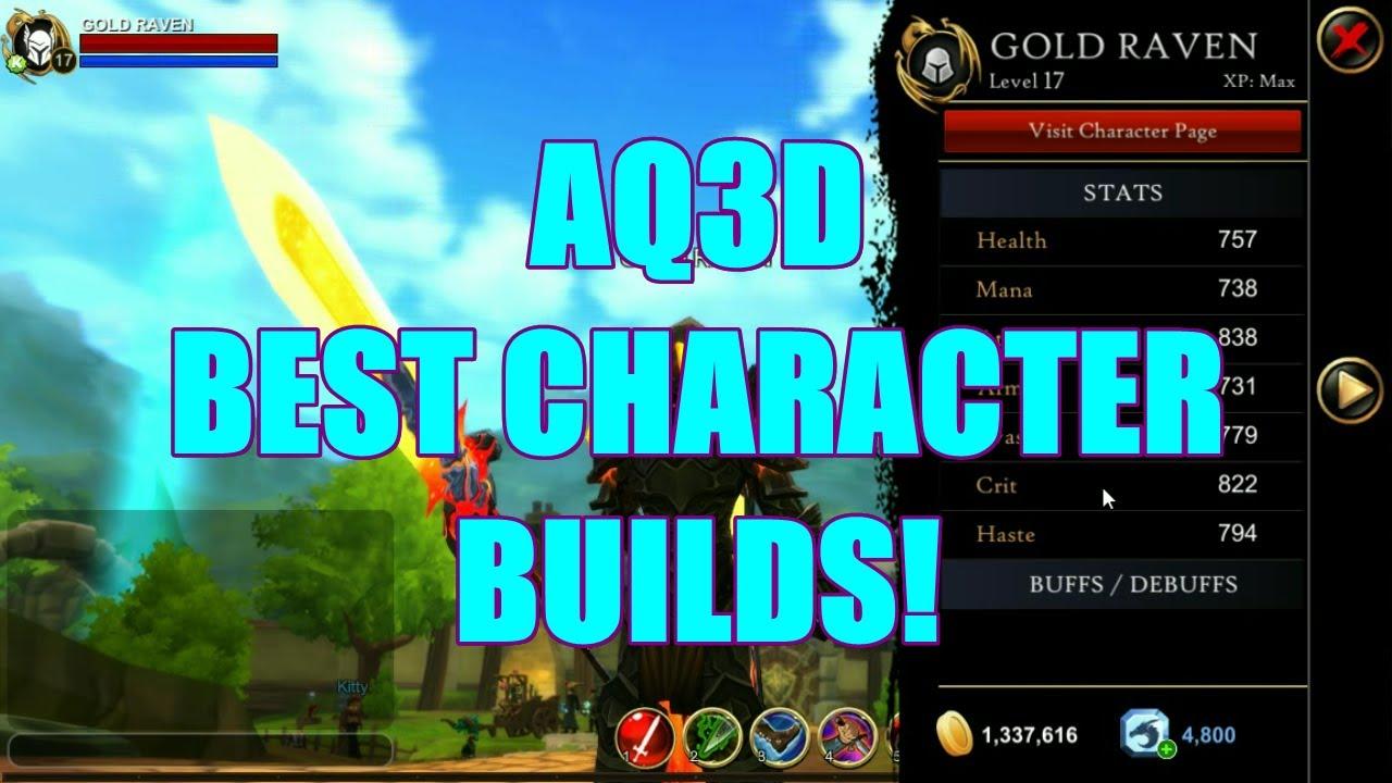 AQ3D Best Character BUILDS! AdventureQuest 3D