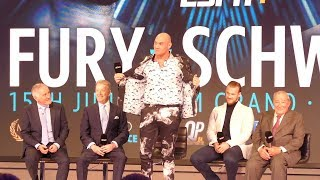 Tyson Fury THE NEW GEORGE FOREMAN | FULL PRESS CONFERENCE feat Bob Arum