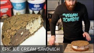 BIGGEST Ice Cream Cookie Sandwich (VEGAN)