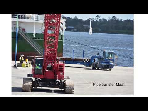 Suriname - First pipe delivery