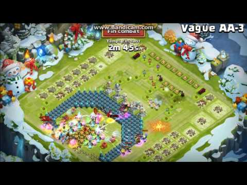 Castle Clash - HBM AA WON With F2P Heroes !!!