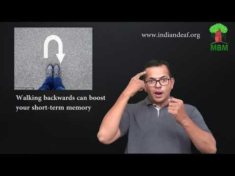 Walking backwards can boost your short term memory