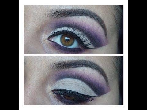 How To Purple Cut Crease Tutorial - YouTube - photo #45