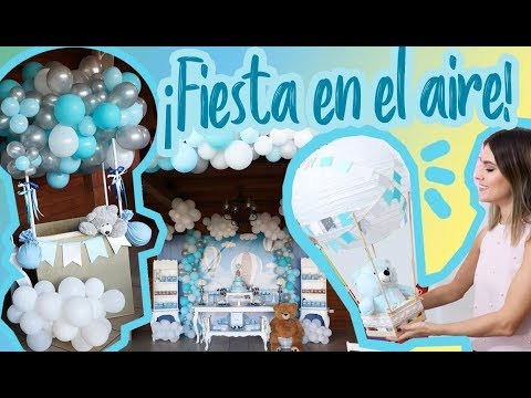 Decoracion De Nubes Para Baby Shower.Decoracion En Las Nubes Facil Y Divertida De Globos