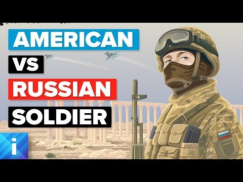 American Soldier (USA) vs Russian Soldier - Army / Military Comparison
