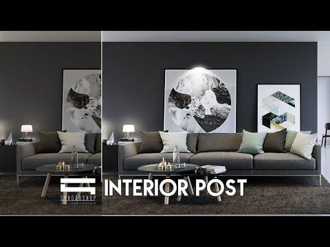 Interior Post - Photoshop Architecture