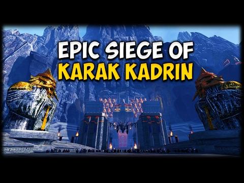 EPIC SIEGE OF KARAK KADRIN! Total War: Warhammer - Custom Battle Map Gameplay