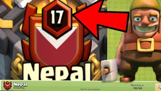 THE ONE AND ONLY LEVEL 17 CLAN OF NEPAL TILL DATE || Nepal || CLASH OF CLANS ||