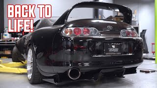 Rebuilding my Toyota Supra - Carbon Fiber Diffuser Install!