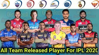 IPL:2020 || List Of All Release Players For IPL 2020