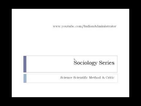 Sociology - Science & Scientific Methods