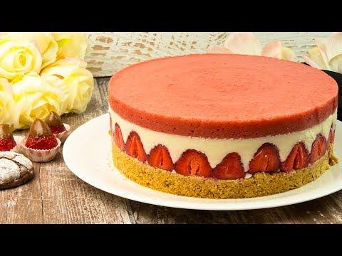 cheesecake:-tarte-aux-fraises-aux-fraises-sans-cuisson-ǀ-savoureux.tv