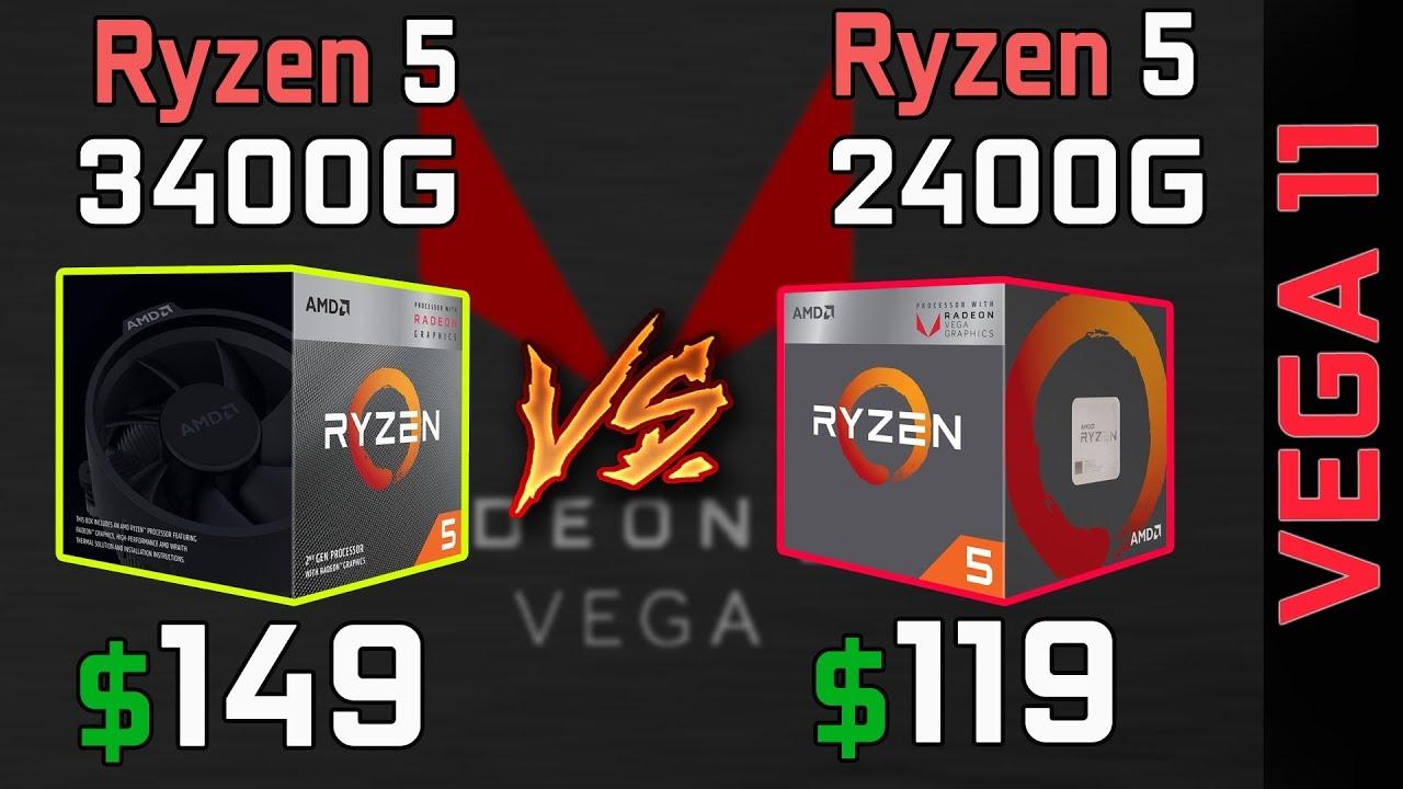 Ryzen 5 3400g Vs 2400g Vega 11 Onboard Graphics Gaming Comparison Youtube
