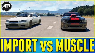 Forza Horizon 2 Online : IMPORT VS MUSCLE CHALLENGE!!!