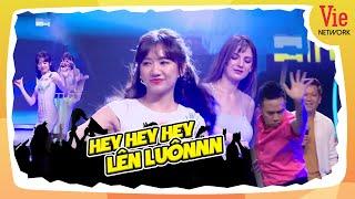 """Hari Won NHẢY SEXY """"chặt đẹp"""" điệu MÚA QUẠT của Anh Đức trên nền nhạc nữ DJ vừa """"thả thính"""" Văn Hậu"""