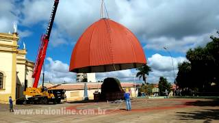 Igreja retira imagem de Santa e instala cúpula de proteção em Uraí