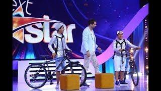 Lacrimi de bucurie la Next Star! Leo si Ionut primesc biciclete din partea Fundatiei Mereu ...