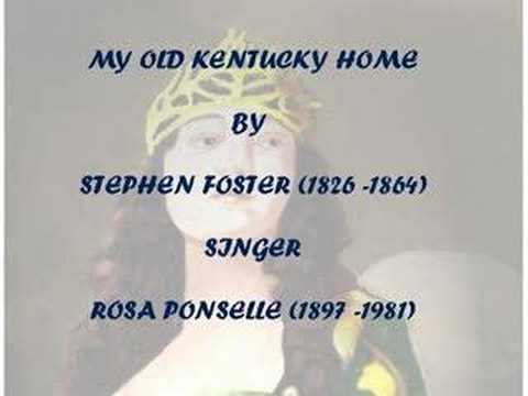Rosa Ponselle Stephen Foster My Old Kentucky Home