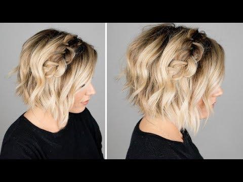 DUTCH BRAID HAIR TUTORIAL || short hair