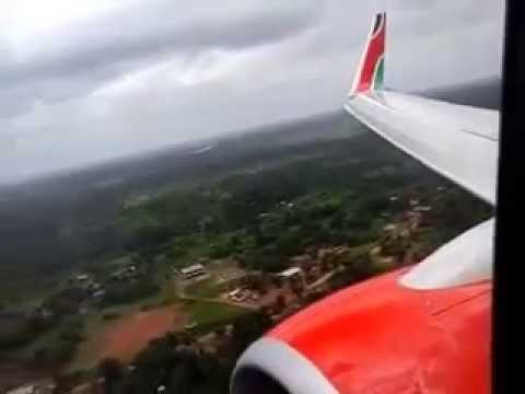 New Kenya Airways 737-800 landing at Monrovia