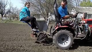 мини-трактор из мотоблока Кентавр 1013