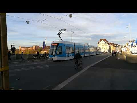 Basel Tramverkehr an der  Mittleren Brücke /sylt33 on Tour