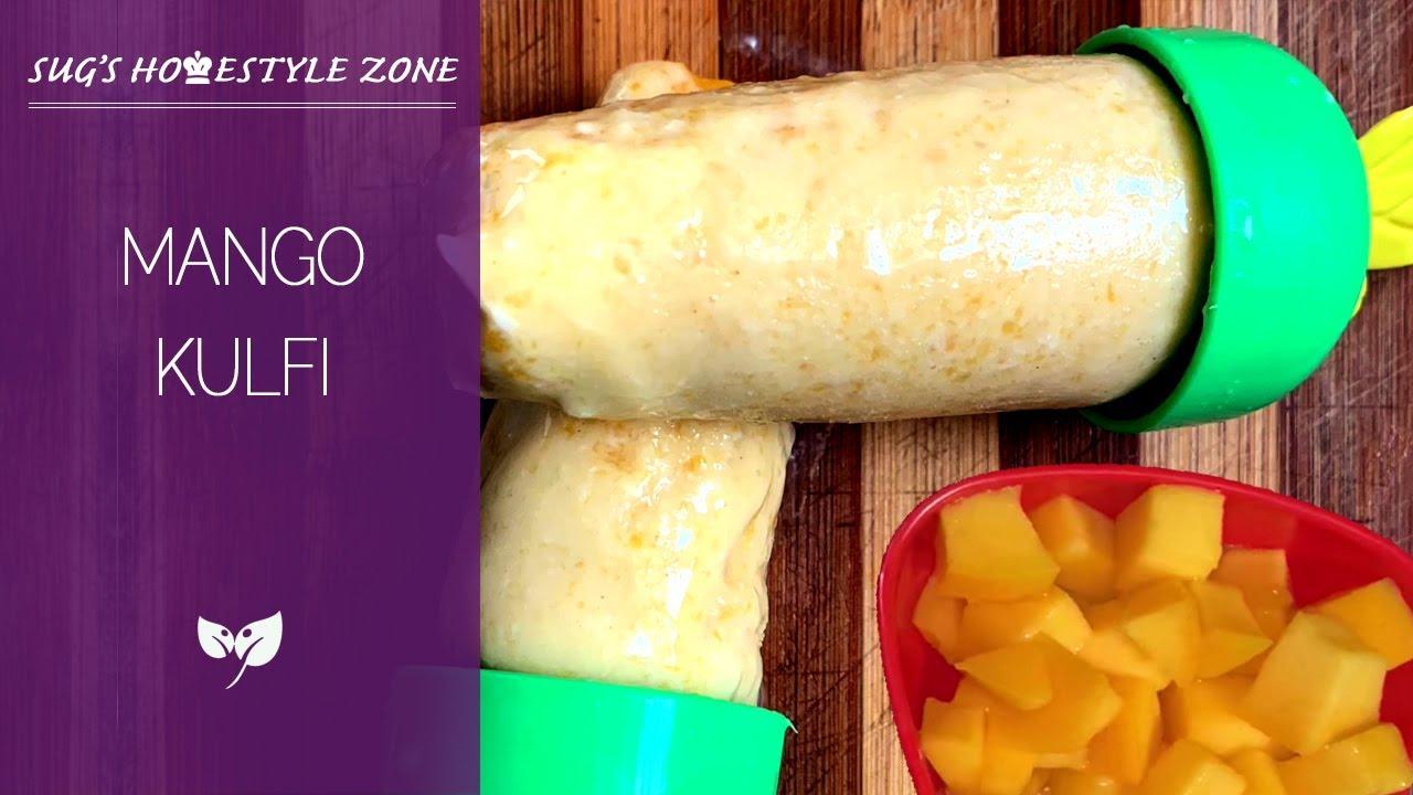 Mango Kulfi Ice Cream | No Cream No Condensed Milk Recipe