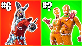 Ranking All CHRISTMAS FORTNITE SKINS From WORST TO BEST!
