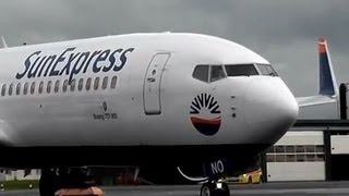 SunExpress Boeing 737-800 Rainy Take off at Odense Airport FULL HD 1080p
