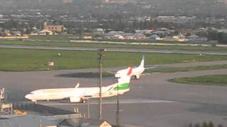 "Посадка Боинга 737 ""Таджик Эйр"" в аэропорту города Душанбе"