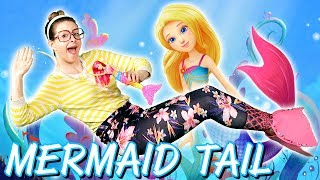 Barbie Mermaid Tail DIY - Barbie Dreamtopia | Arts & Crafts with Crafty Carol