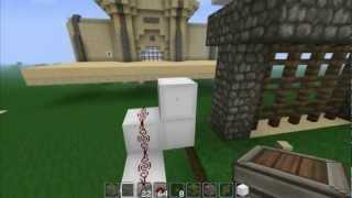 Minecraft: Piston Castle Gate / Portcullis Redstone Tutorial [1.2.4]