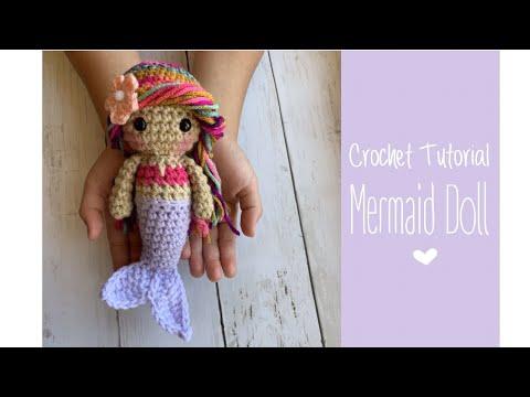 How to Crochet Tutorial: Mermaid Doll Amigurumi Chibi (quick and easy)