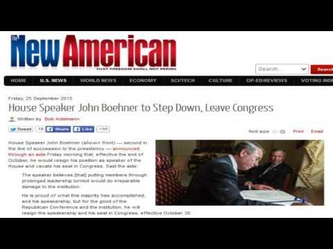 House Speaker John Boehner to Step Down, Leave Congress