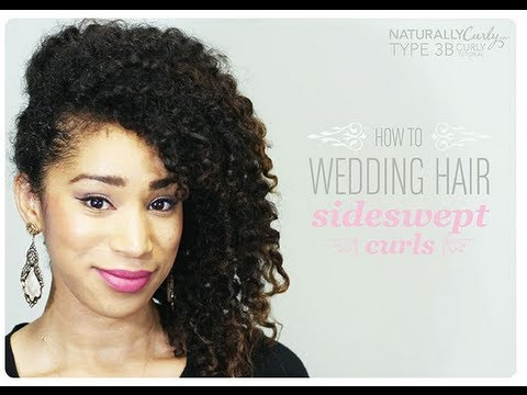 curly wedding hairstyle tutorial