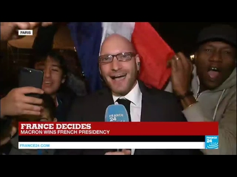 France Presidential Election: Joy in the streets after Emmanuel Macron's large win in the Paris area
