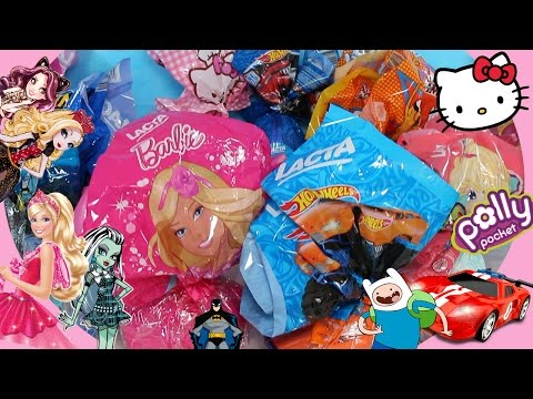 9 OVOS DE PÁSCOA SURPRESA Barbie Hot Wheels Batman Baby Alive Polly Brinquedos 2016 46min