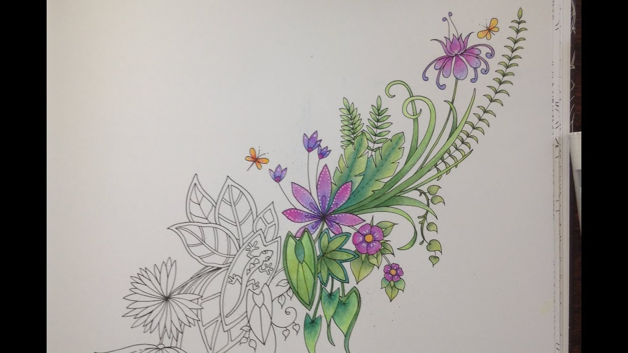 MAGICAL JUNGLE Johanna Basford Coloring With Faber Castell