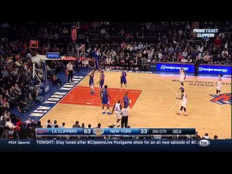 DeAndre Jordan poster dunk on Jason Smith: Los Angeles Clippers at New York Knicks