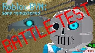Roblox BYM: sans Remastered Battle Test