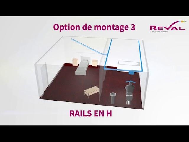 Montage rail en h 3D VF