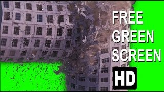 FREE HD Green Screen BUILDING COLLAPSE -2