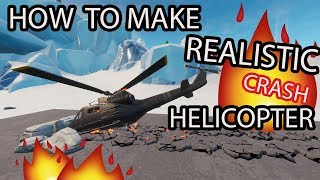 how to make realistic crash helicopter *realistic version* (fortnite creative)
