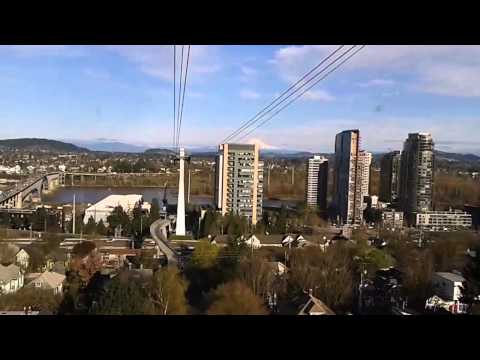 Tram ride at Oregon Health & Science University