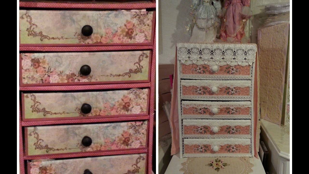 Part  Progress Of Craft Space Makeover Before After Cardboard Chest Of Drawers