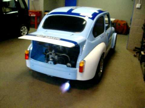 Fiat Abarth 1000 TCR Flaming From Exhaust In Toronto