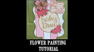 Flower Tutorial on a Door Hanger