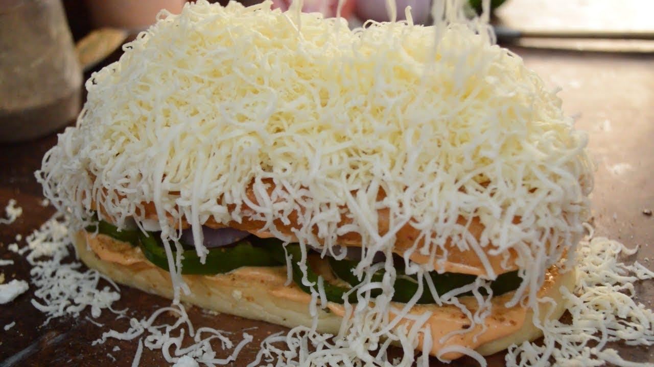 PANEER TIKKA OPEN TOAST | BIG Panini Sandwich | Indian Street Food