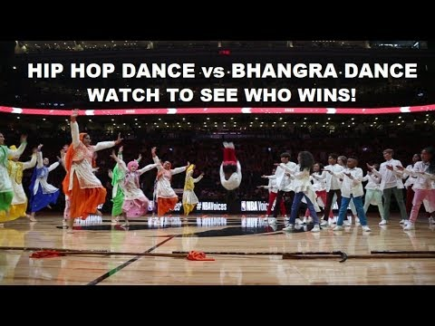 GOD'S PLAN - Hip Hop Dance vs Bhangra @ NBA Toronto Raptors HALF TIME Battle for Nav Bhatia