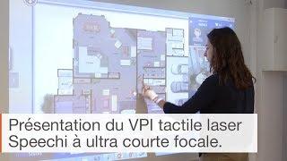 Présentation du Vidéoprojecteur Interactif Tactile Laser à ultra-courte focale